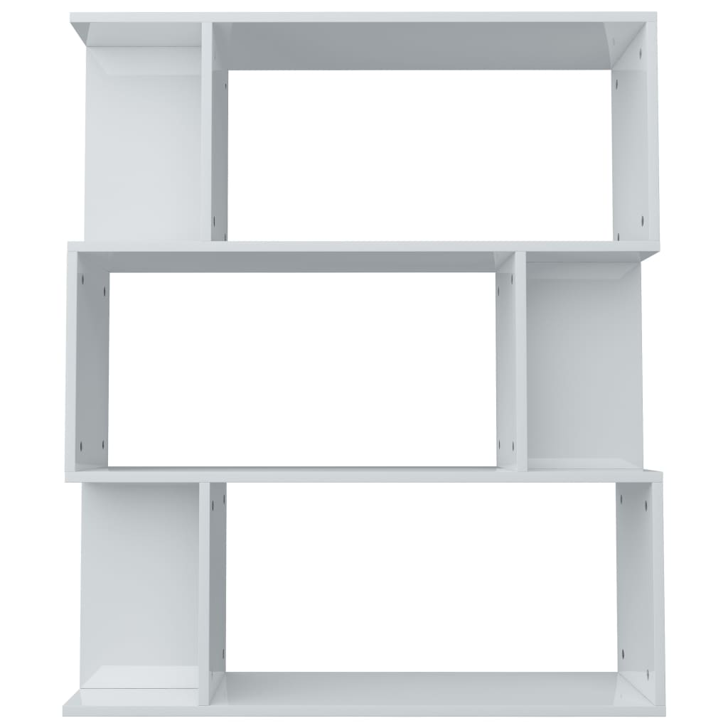 Book Cabinet/Room Divider High Gloss White 80x24x96 cm Chipboard 6