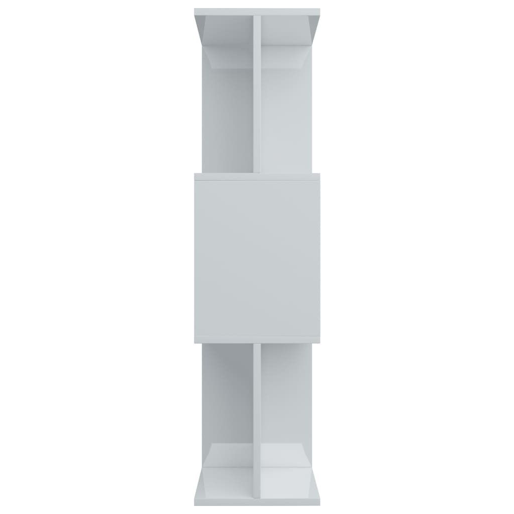 Book Cabinet/Room Divider High Gloss White 80x24x96 cm Chipboard 7