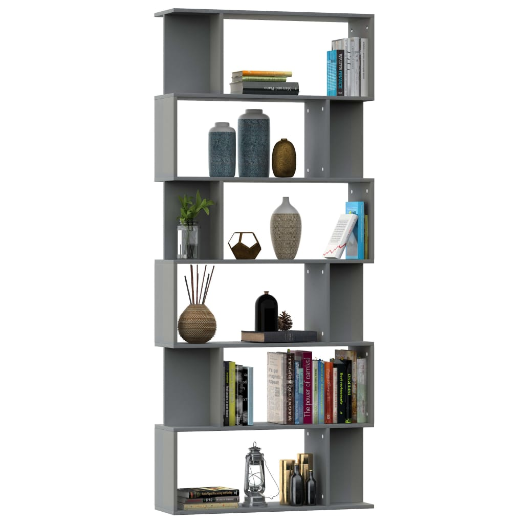 Book Cabinet/Room Divider Grey 80x24x192 cm Chipboard 3