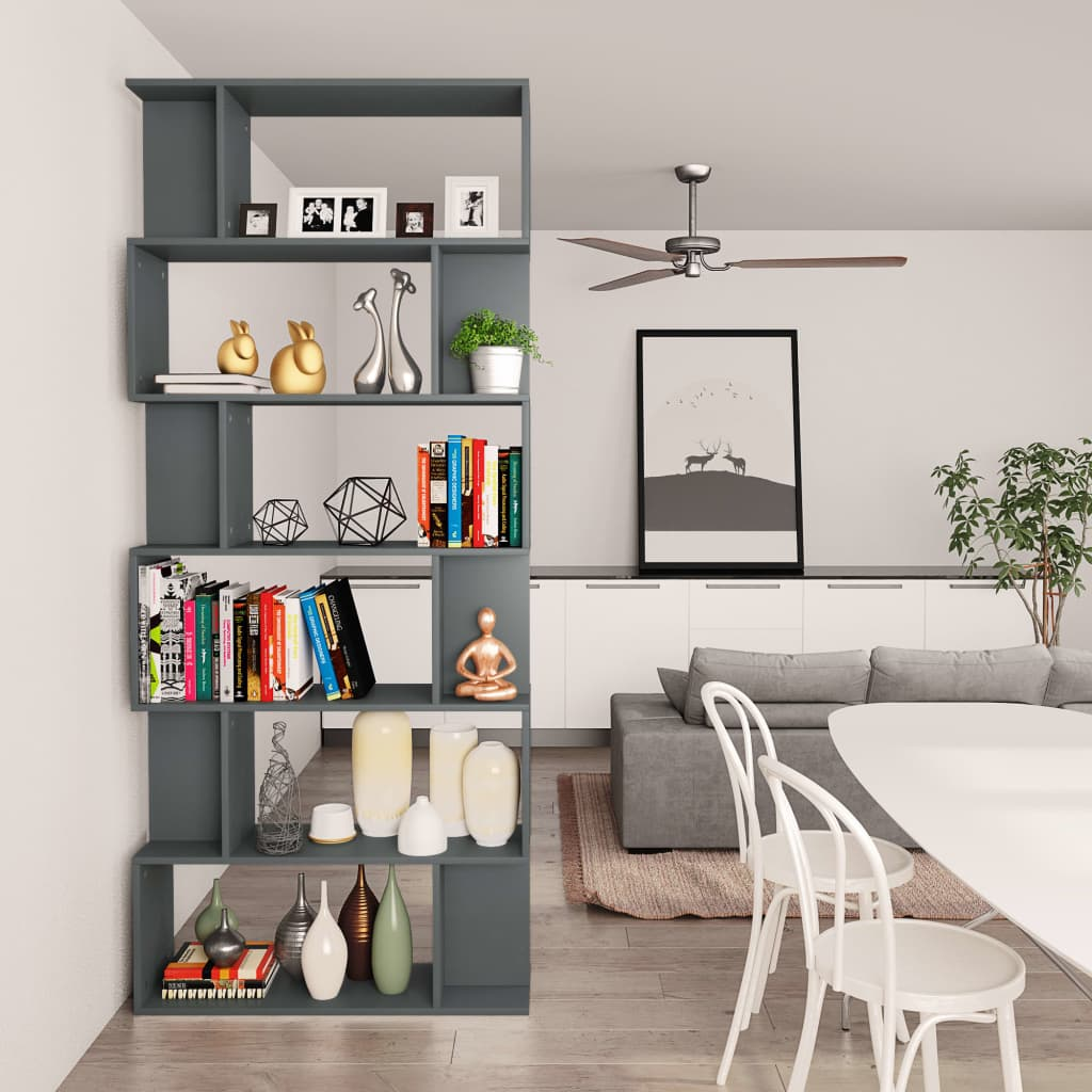 Book Cabinet/Room Divider Grey 80x24x192 cm Chipboard 4