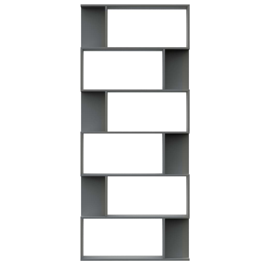 Book Cabinet/Room Divider Grey 80x24x192 cm Chipboard 5
