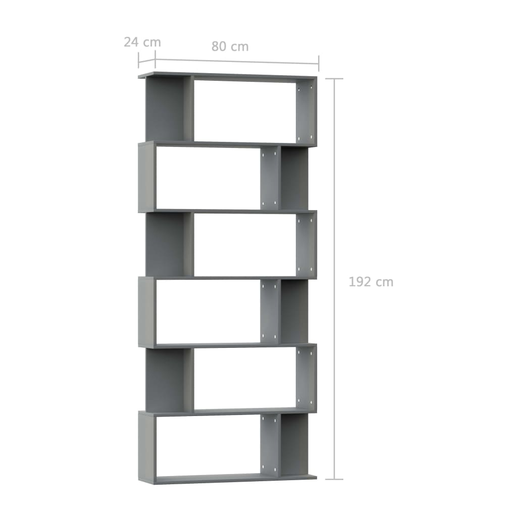 Book Cabinet/Room Divider Grey 80x24x192 cm Chipboard 7