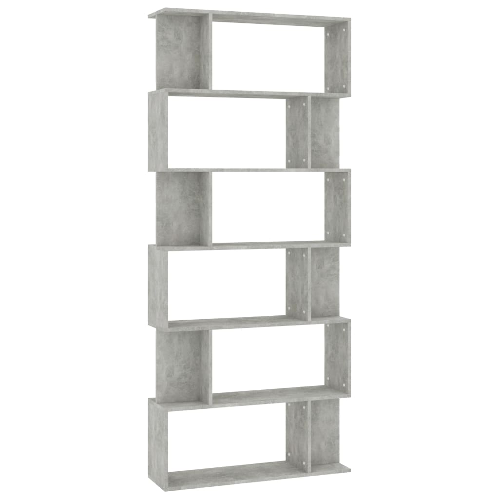 Book Cabinet/Room Divider Concrete Grey 80x24x192 cm Chipboard 2