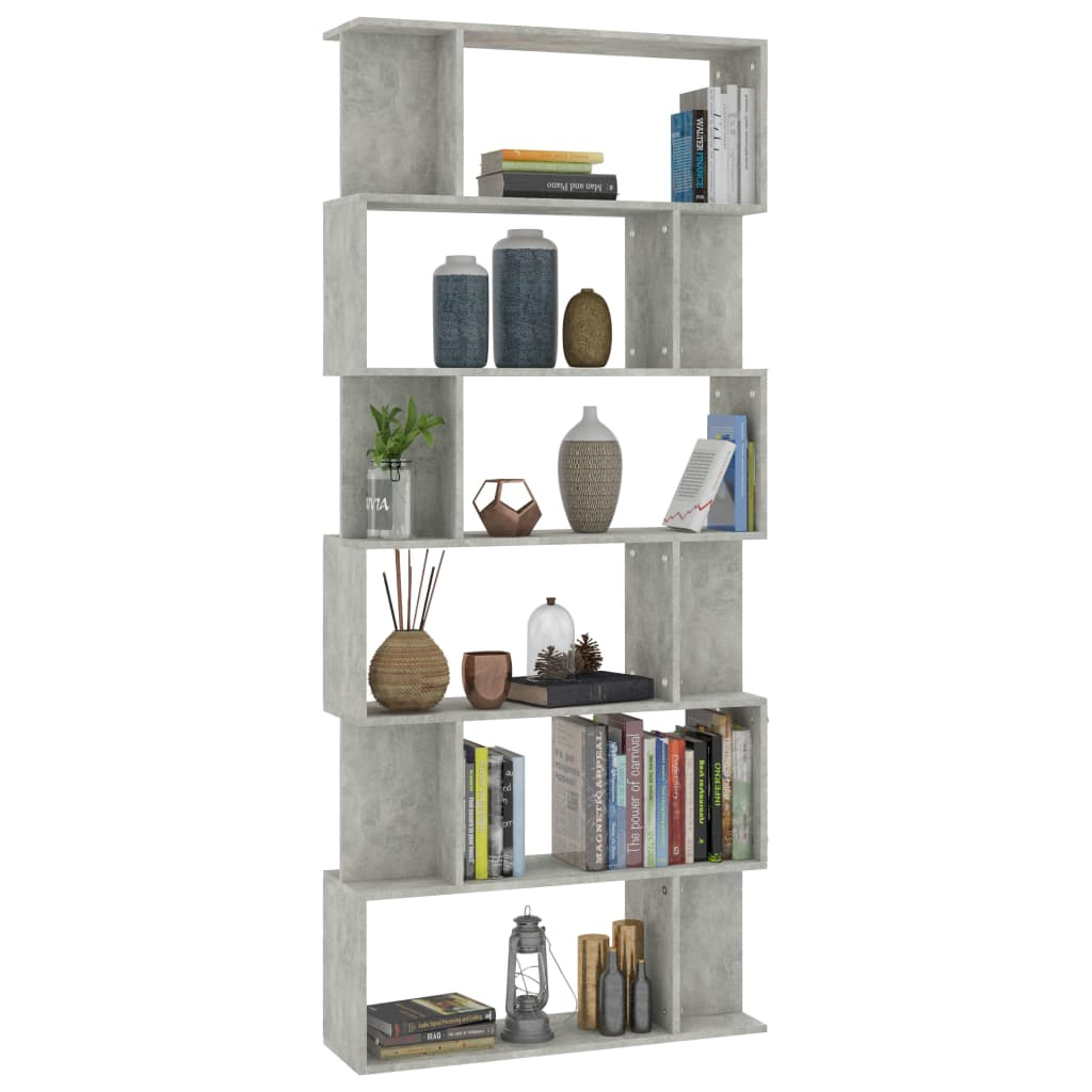 Book Cabinet/Room Divider Concrete Grey 80x24x192 cm Chipboard 3