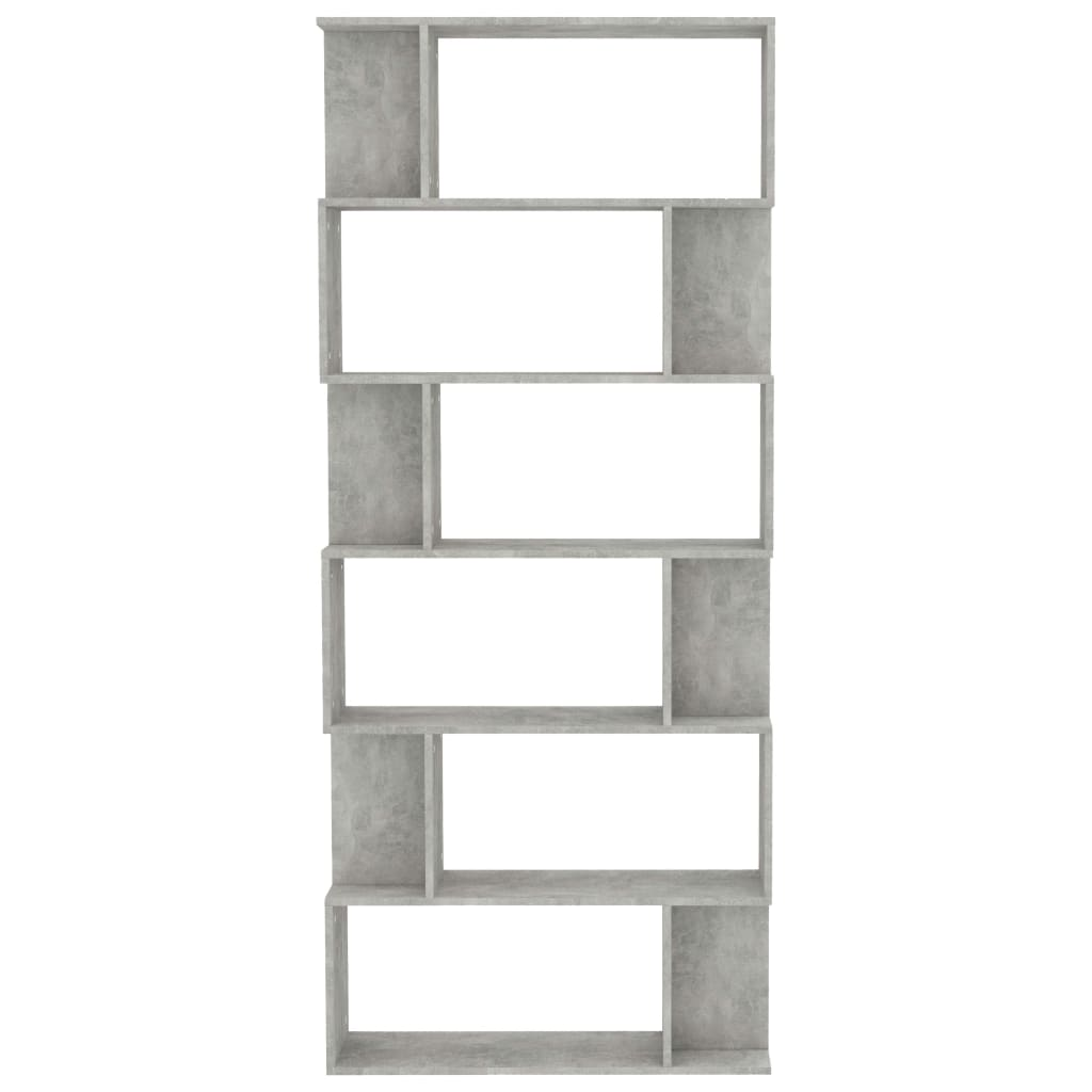 Book Cabinet/Room Divider Concrete Grey 80x24x192 cm Chipboard 5