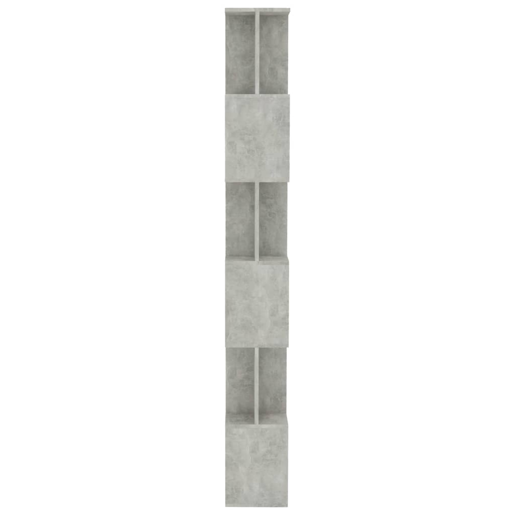 Book Cabinet/Room Divider Concrete Grey 80x24x192 cm Chipboard 6