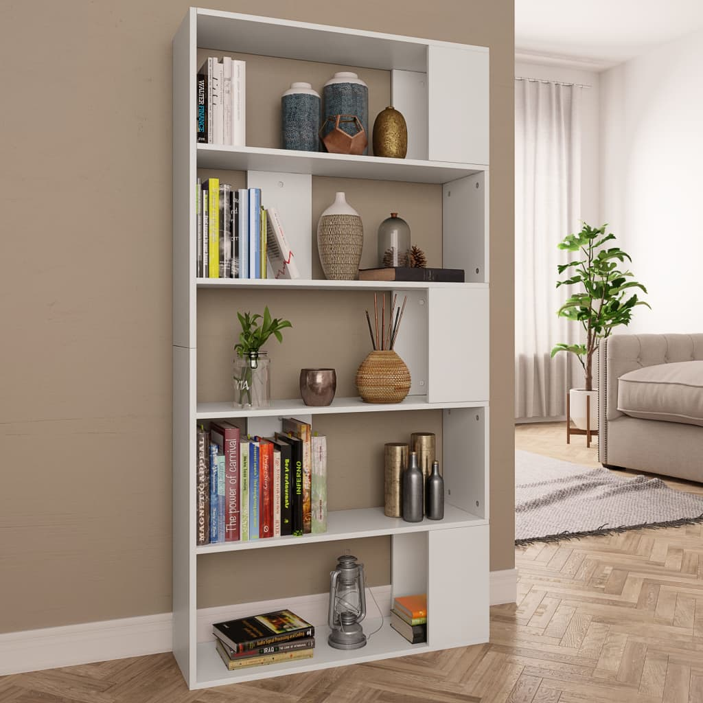 Book Cabinet/Room Divider White 80x24x159 cm Chipboard