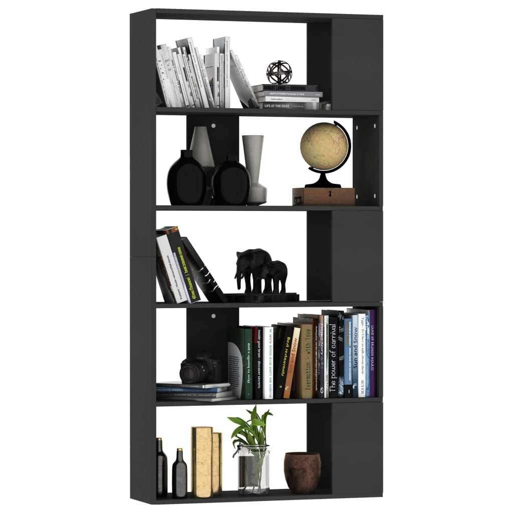 Book Cabinet/Room Divider Black 80x24x159 cm Chipboard 3