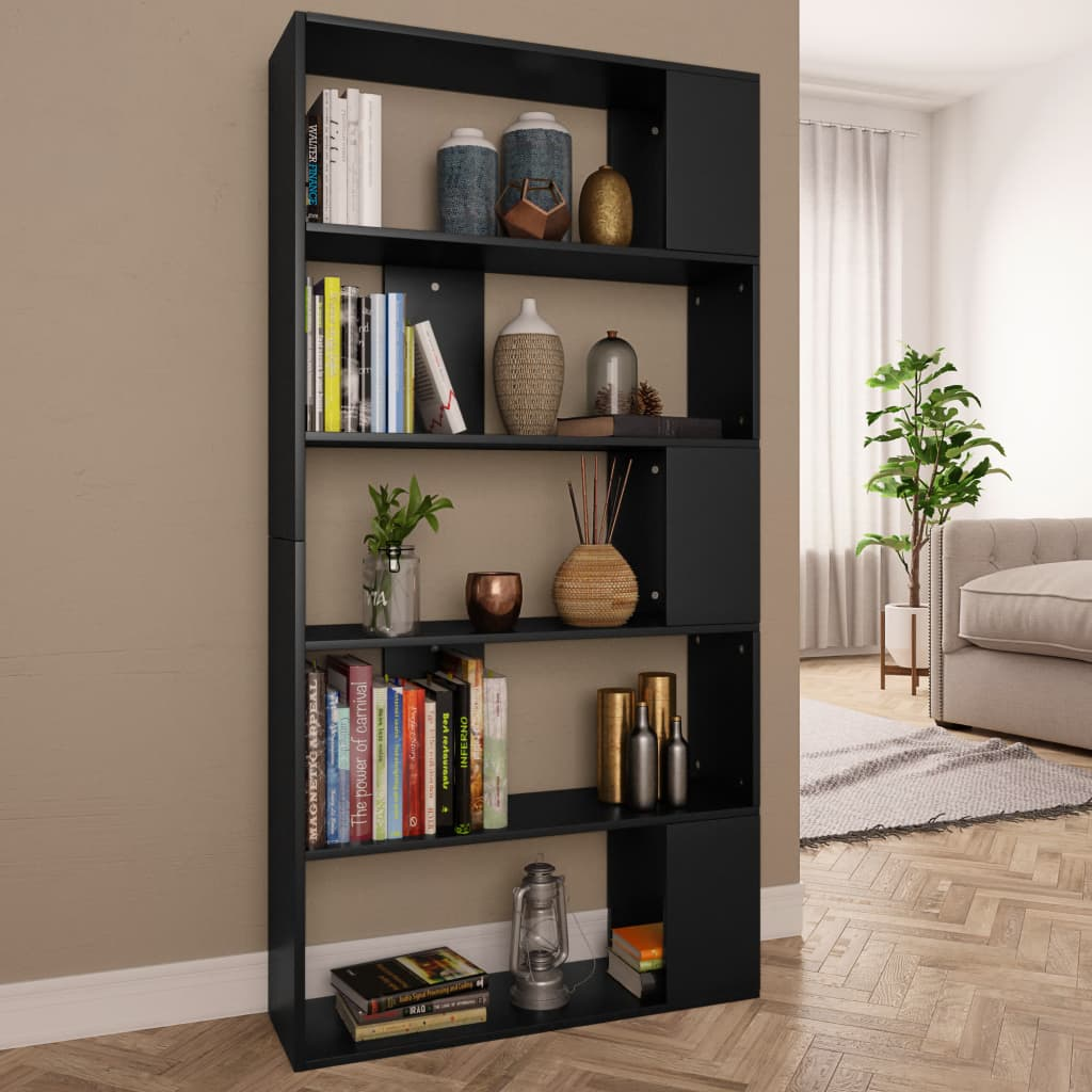 Book Cabinet/Room Divider Black 80x24x159 cm Chipboard