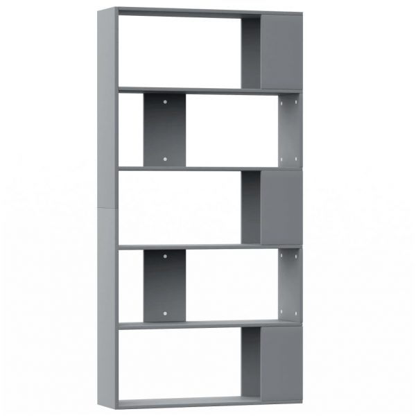 Book Cabinet/Room Divider Grey 80x24x159 cm Chipboard 2