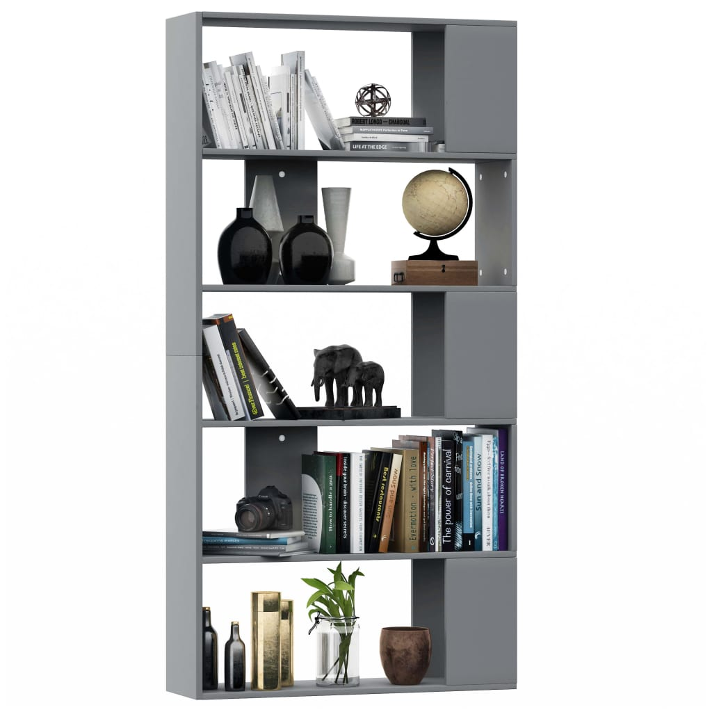 Book Cabinet/Room Divider Grey 80x24x159 cm Chipboard 3