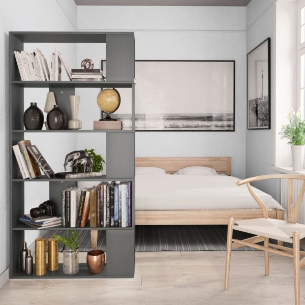 Book Cabinet/Room Divider Grey 80x24x159 cm Chipboard 4