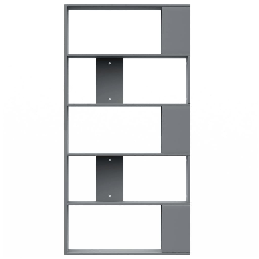 Book Cabinet/Room Divider Grey 80x24x159 cm Chipboard 5