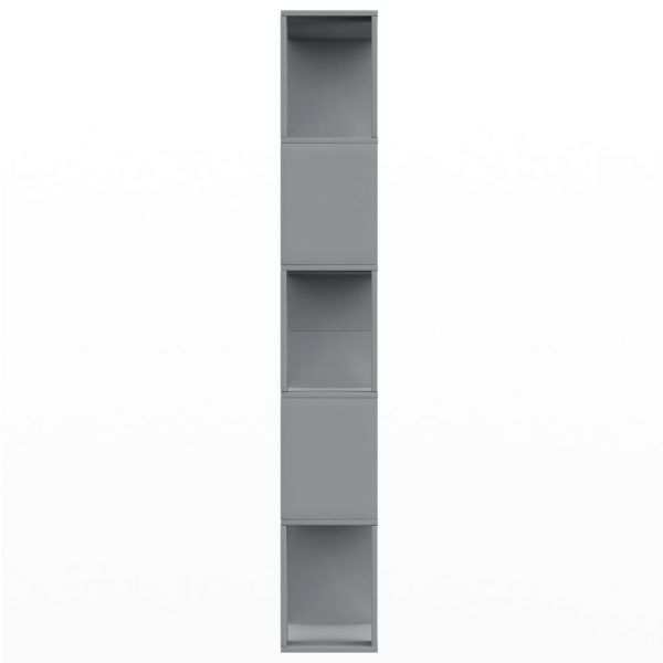 Book Cabinet/Room Divider Grey 80x24x159 cm Chipboard 6