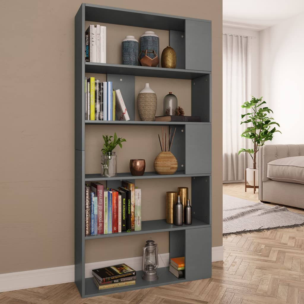 Book Cabinet/Room Divider Grey 80x24x159 cm Chipboard