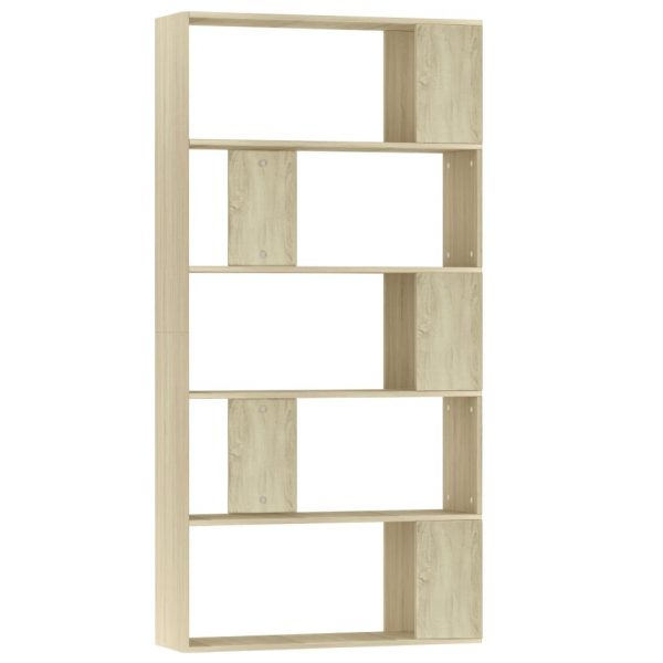 Book Cabinet/Room Divider Sonoma Oak 80x24x159 cm Chipboard 2