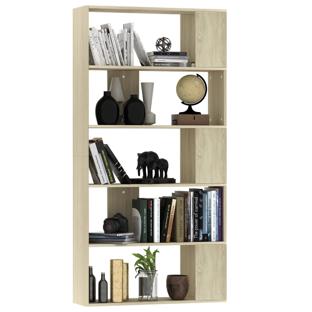 Book Cabinet/Room Divider Sonoma Oak 80x24x159 cm Chipboard 3
