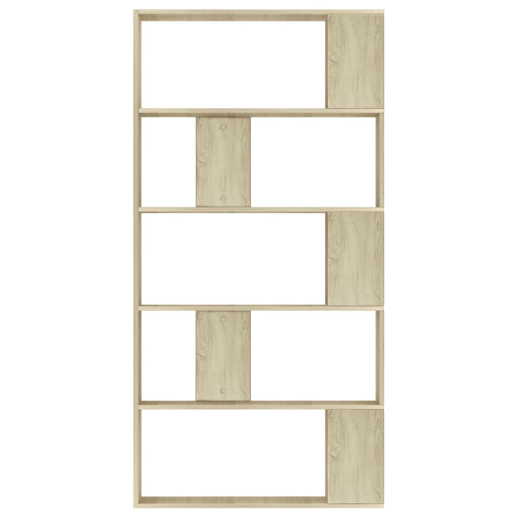Book Cabinet/Room Divider Sonoma Oak 80x24x159 cm Chipboard 5
