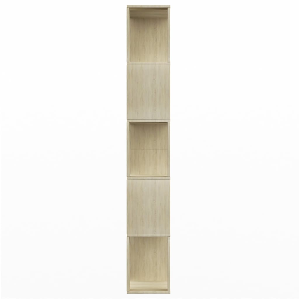 Book Cabinet/Room Divider Sonoma Oak 80x24x159 cm Chipboard 6