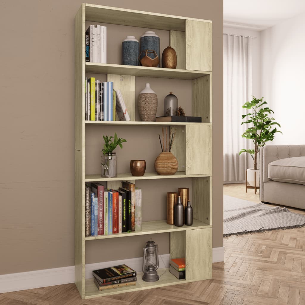 Book Cabinet/Room Divider Sonoma Oak 80x24x159 cm Chipboard 1