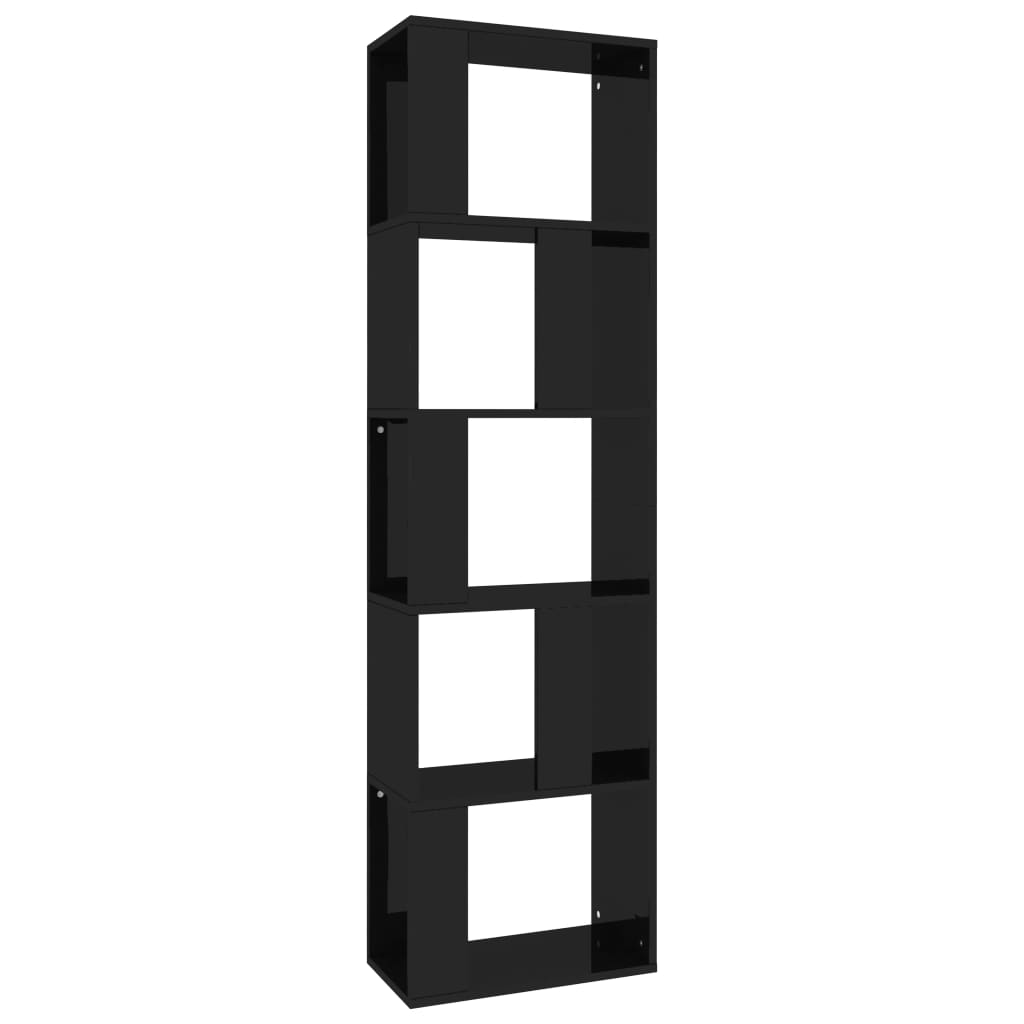 Book Cabinet/Room Divider High Gloss Black 45x24x159 cm Chipboard 2