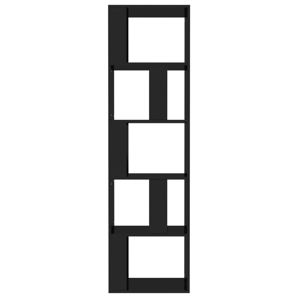 Book Cabinet/Room Divider High Gloss Black 45x24x159 cm Chipboard 5