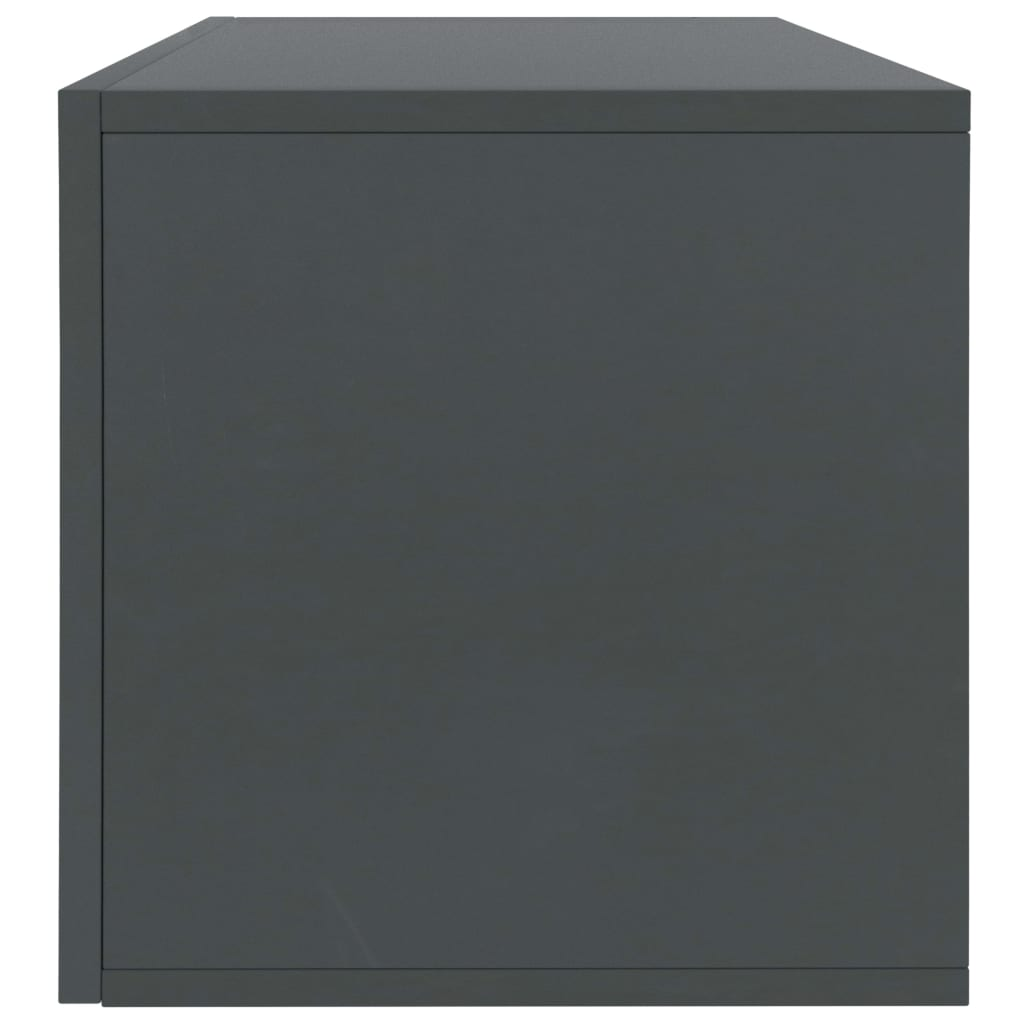Vinyl Storage Box Grey 71x34x36 cm Chipboard 5