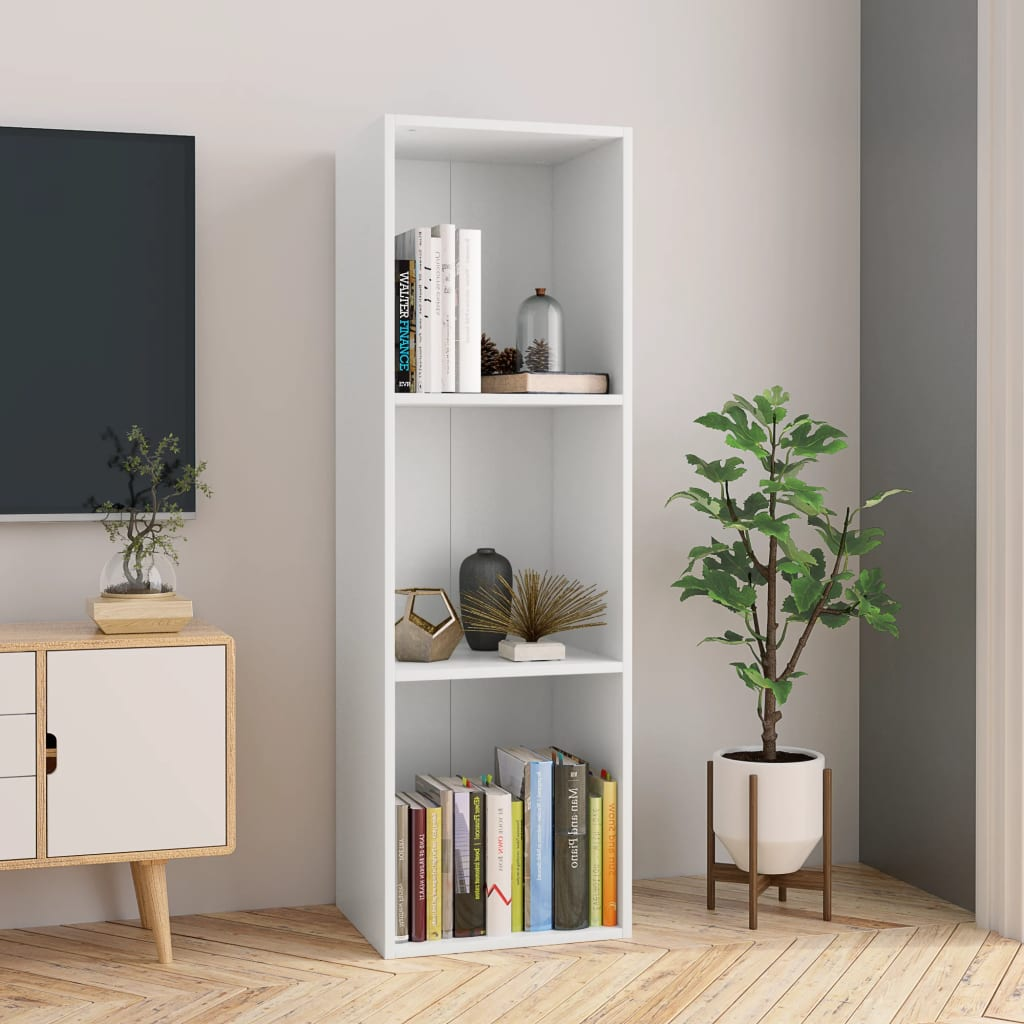 Book Cabinet/TV Cabinet White 36x30x114 cm Chipboard
