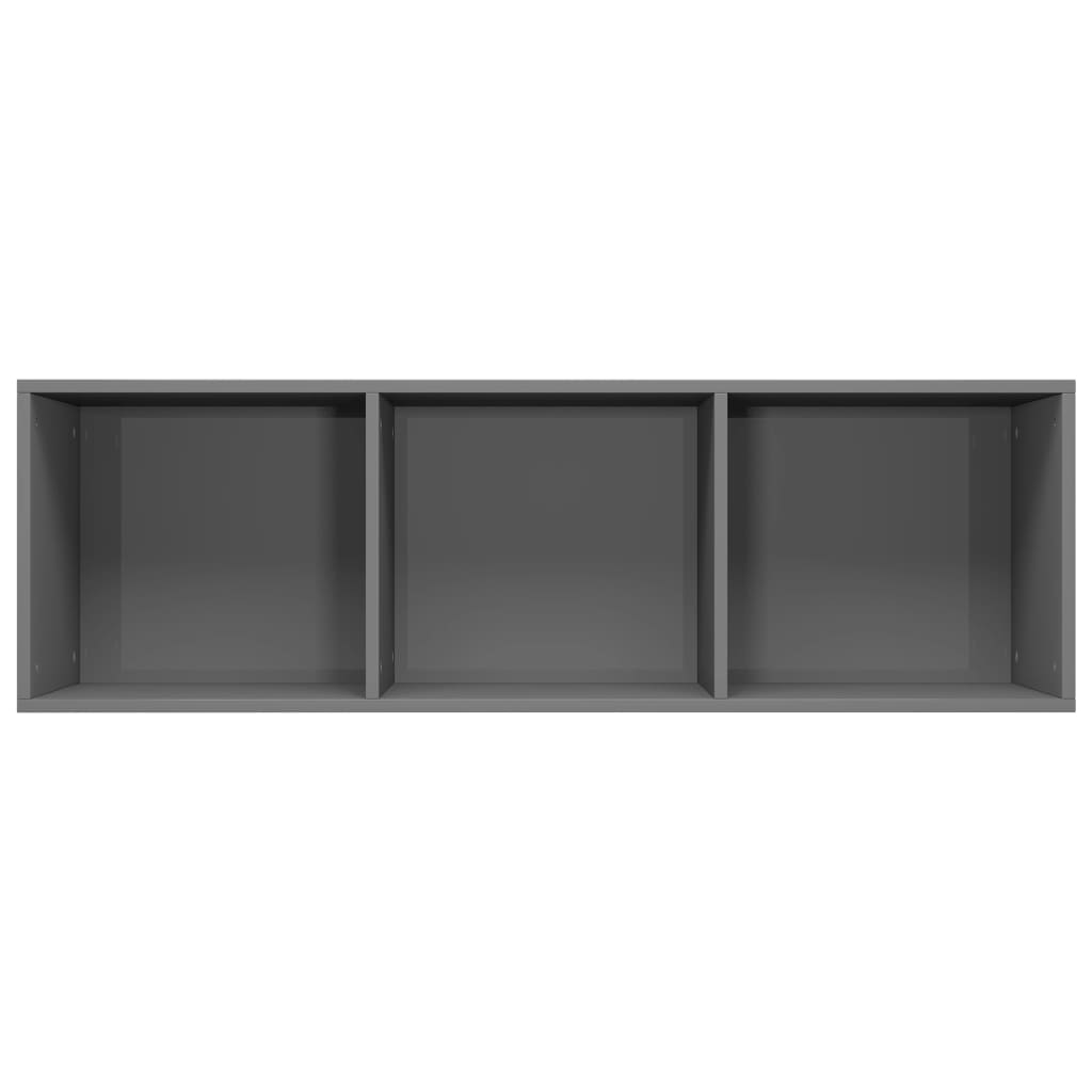 Book Cabinet/TV Cabinet High Gloss Grey 36x30x114 cm Chipboard 9