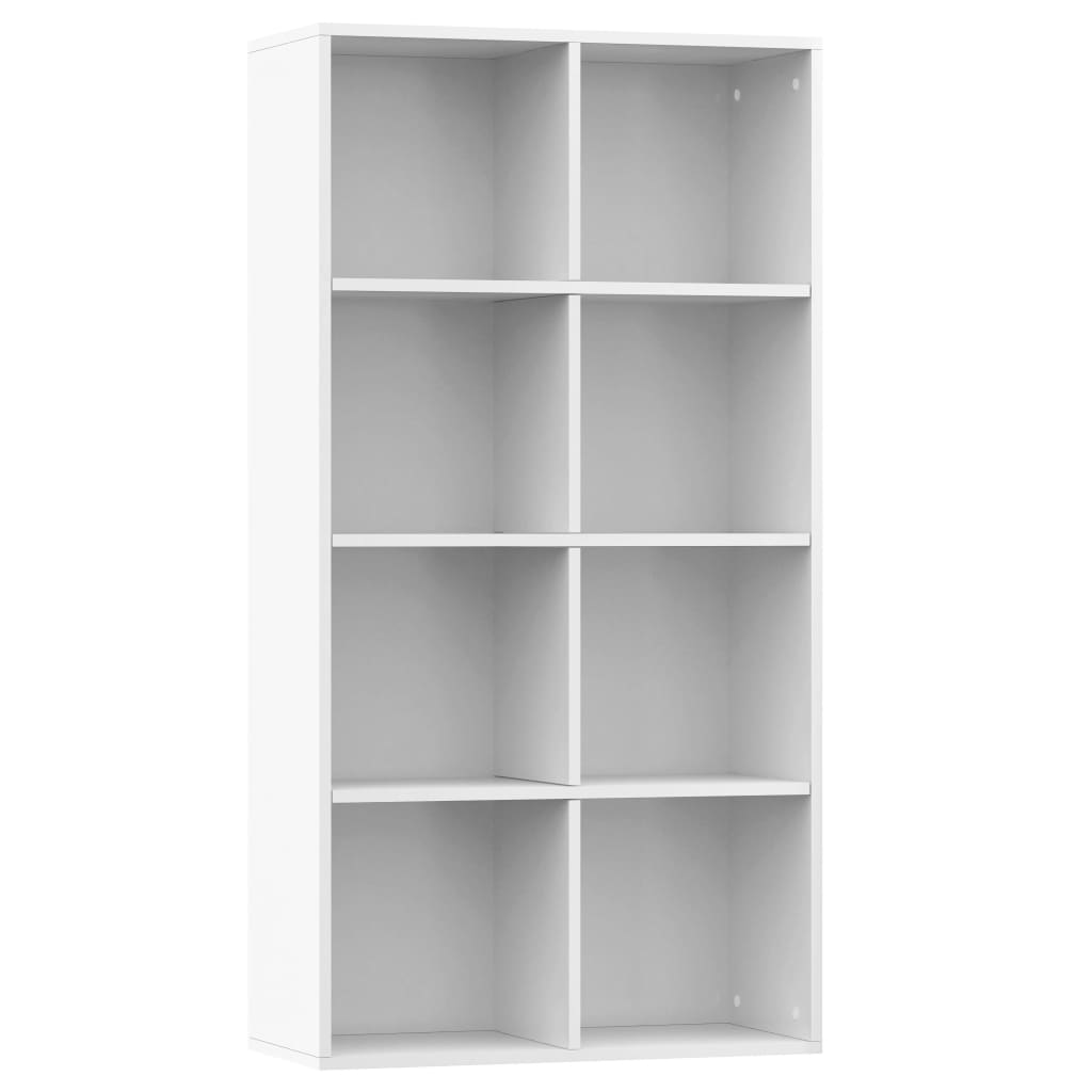 Book Cabinet/Sideboard High Gloss White 66x30x130 cm Chipboard 2