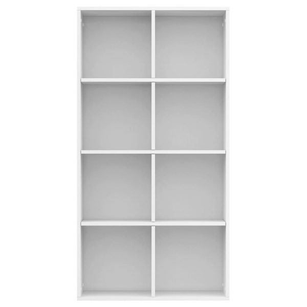 Book Cabinet/Sideboard High Gloss White 66x30x130 cm Chipboard 6