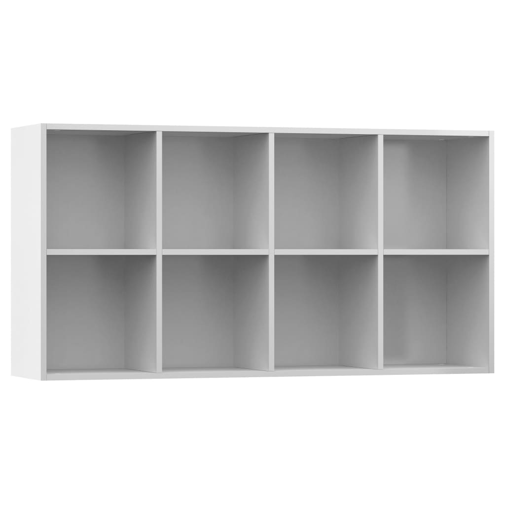 Book Cabinet/Sideboard High Gloss White 66x30x130 cm Chipboard 8