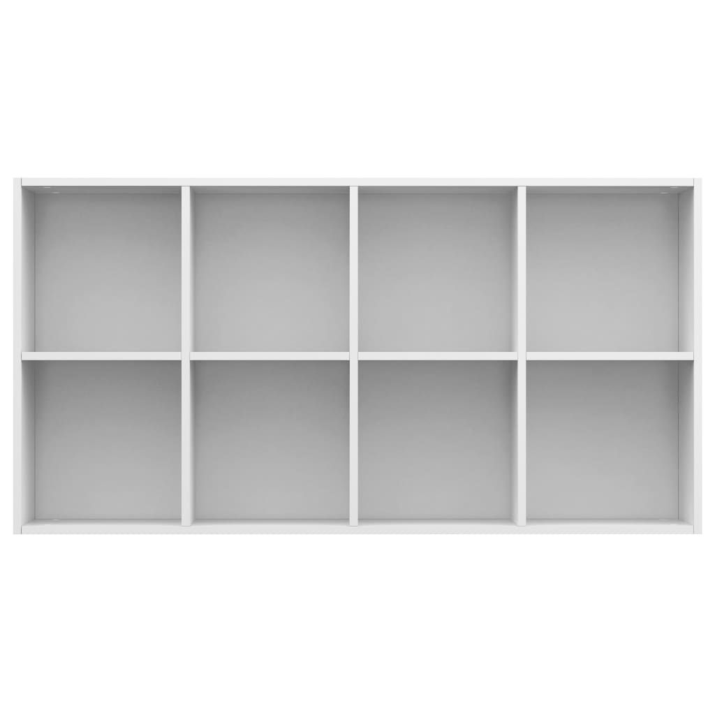 Book Cabinet/Sideboard High Gloss White 66x30x130 cm Chipboard 9