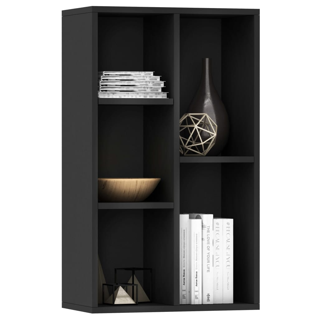 Book Cabinet/Sideboard Black 45x25x80 cm Chipboard 3