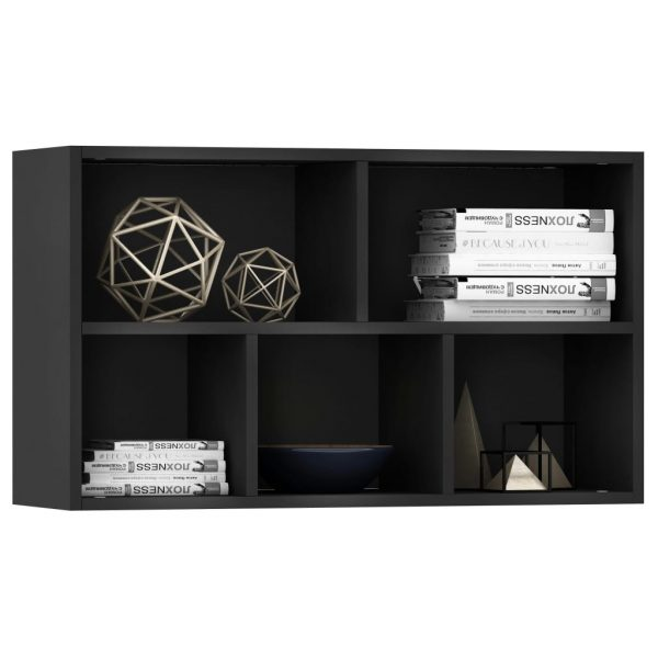 Book Cabinet/Sideboard Black 45x25x80 cm Chipboard 5