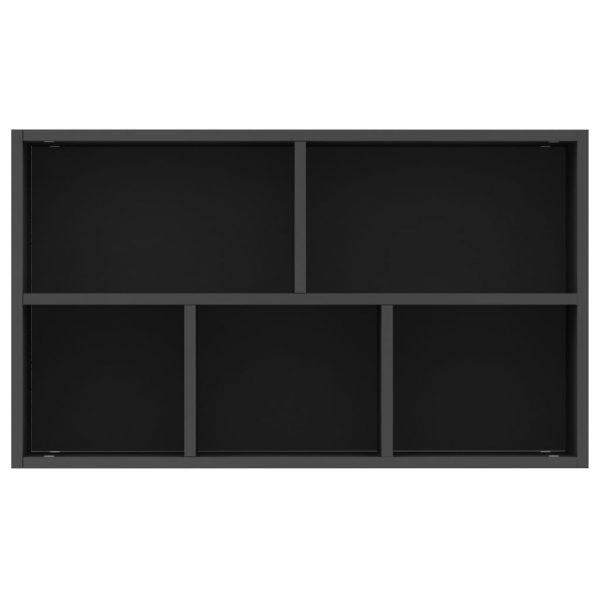 Book Cabinet/Sideboard Black 45x25x80 cm Chipboard 9