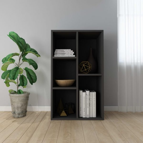 Book Cabinet/Sideboard Black 45x25x80 cm Chipboard 1