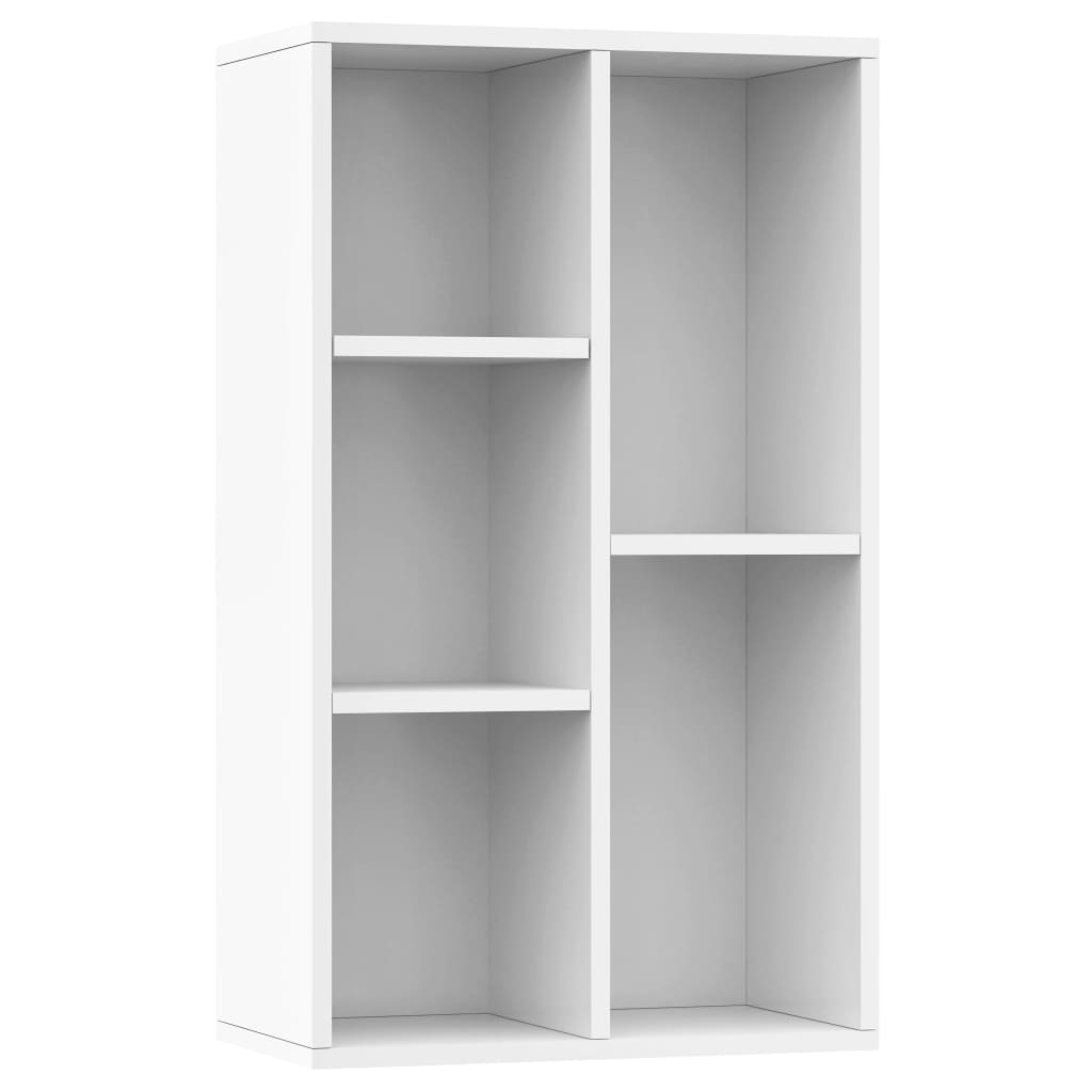 Book Cabinet/Sideboard High Gloss White 45x25x80 cm Chipboard 2