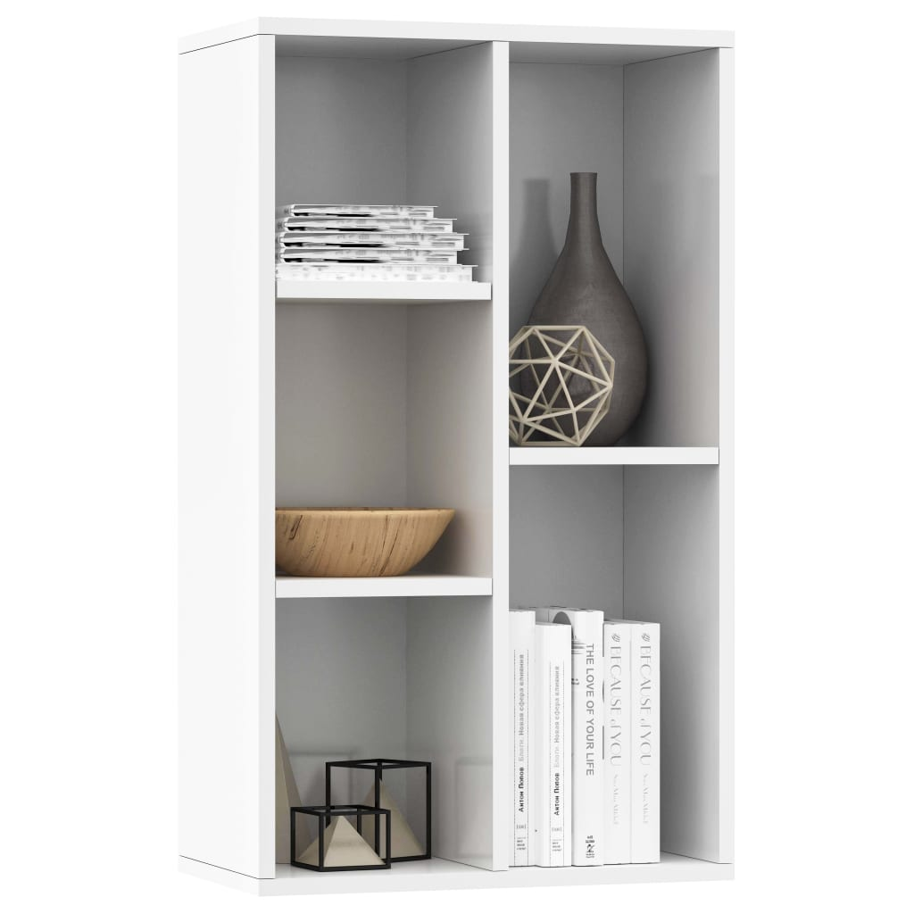 Book Cabinet/Sideboard High Gloss White 45x25x80 cm Chipboard 3