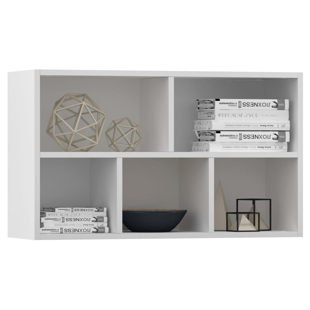 Book Cabinet/Sideboard High Gloss White 45x25x80 cm Chipboard 5