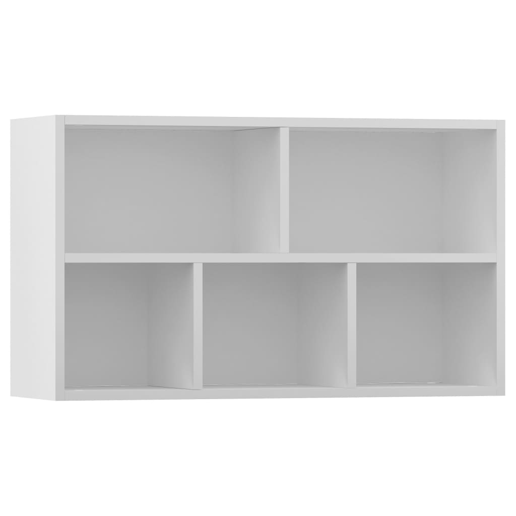 Book Cabinet/Sideboard High Gloss White 45x25x80 cm Chipboard 8
