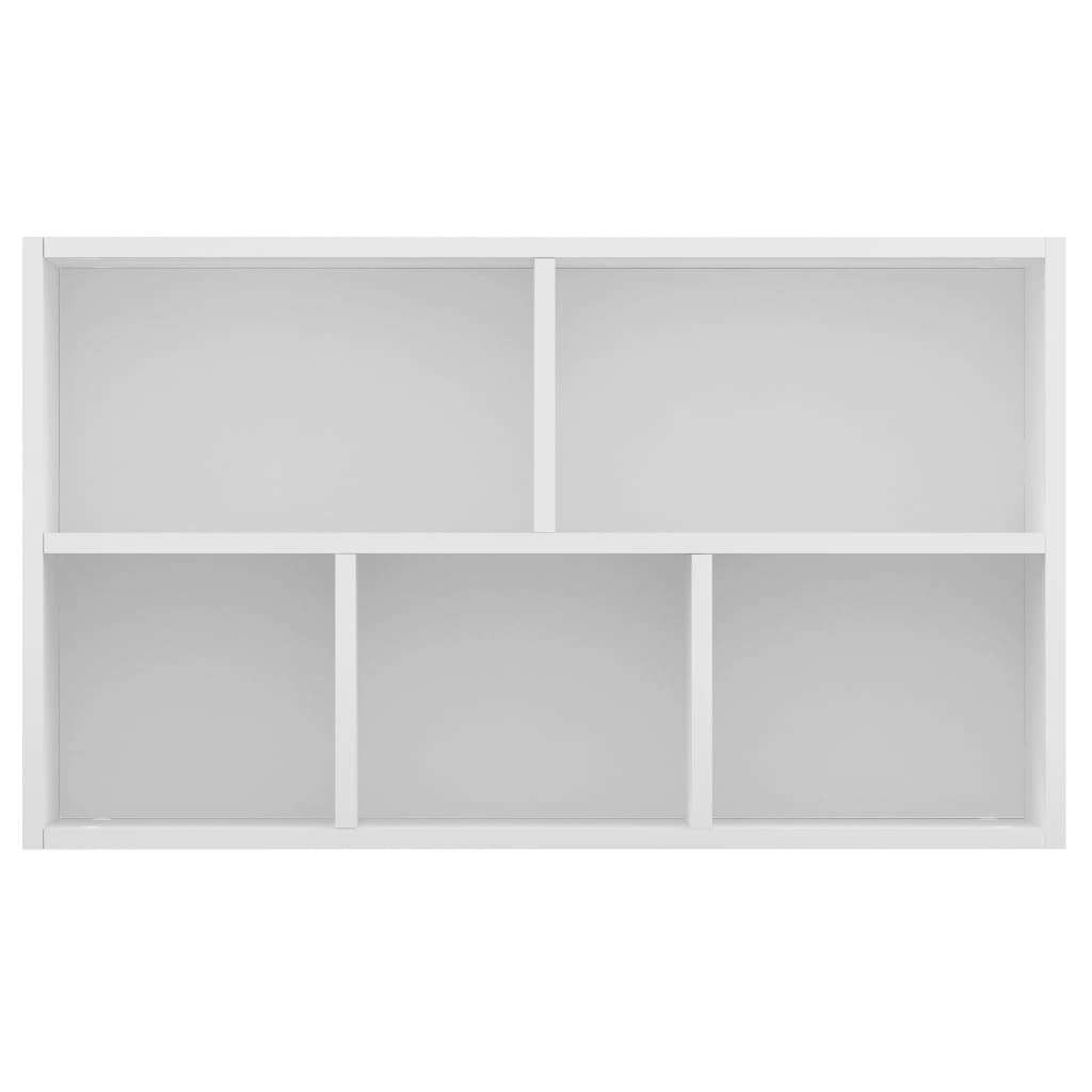 Book Cabinet/Sideboard High Gloss White 45x25x80 cm Chipboard 9