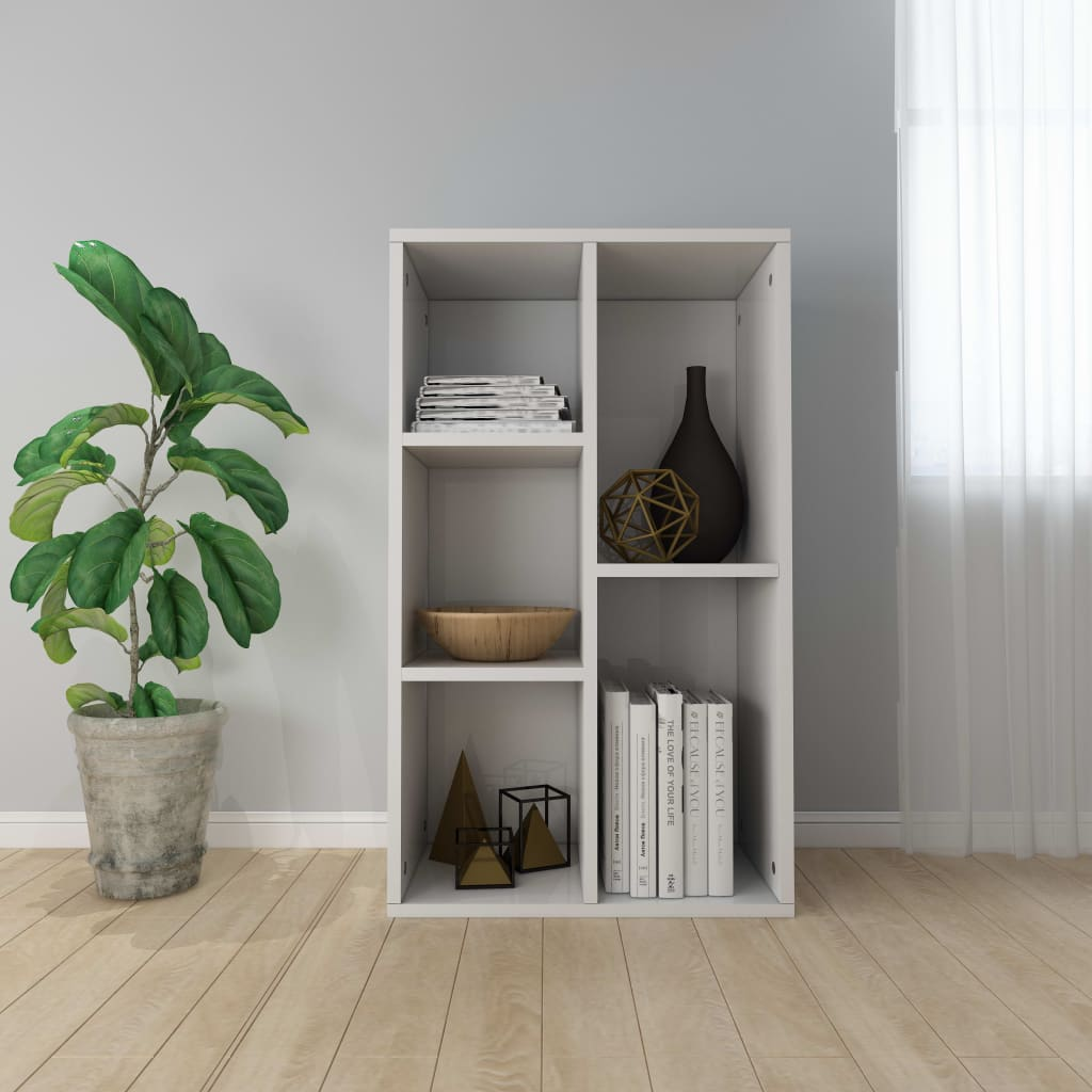 Book Cabinet/Sideboard High Gloss White 45x25x80 cm Chipboard