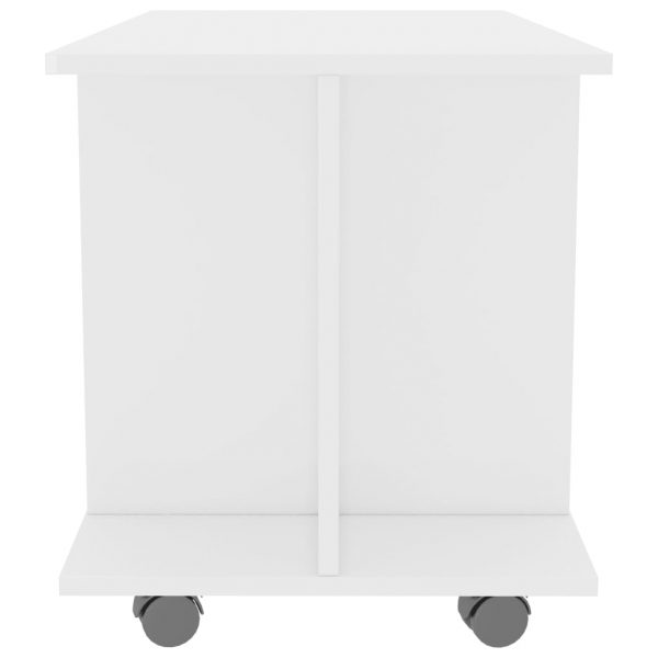 TV Cabinet with Castors High Gloss White 80x40x40 cm Chipboard 5
