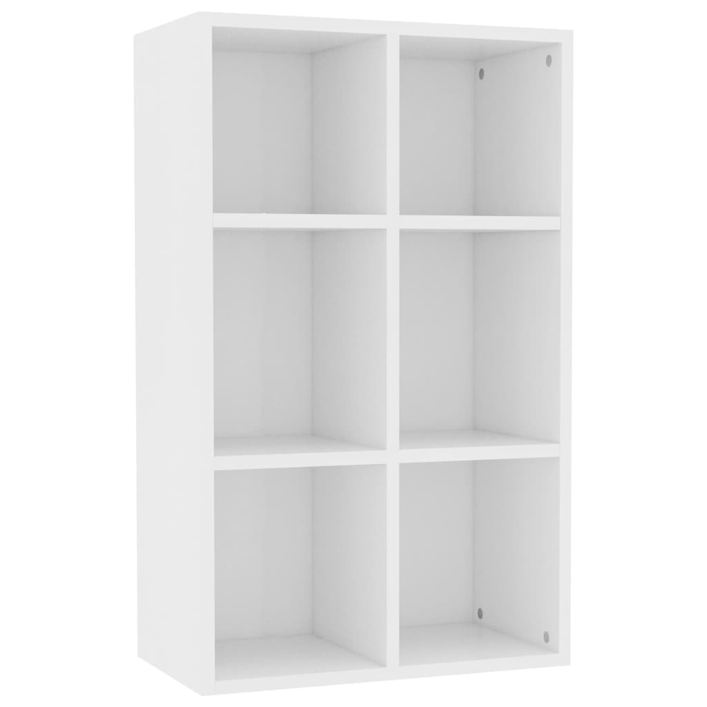 Book Cabinet/Sideboard White 50x25x80 cm Chipboard 2
