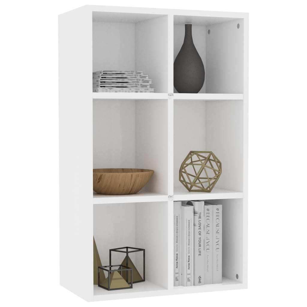 Book Cabinet/Sideboard White 50x25x80 cm Chipboard 3