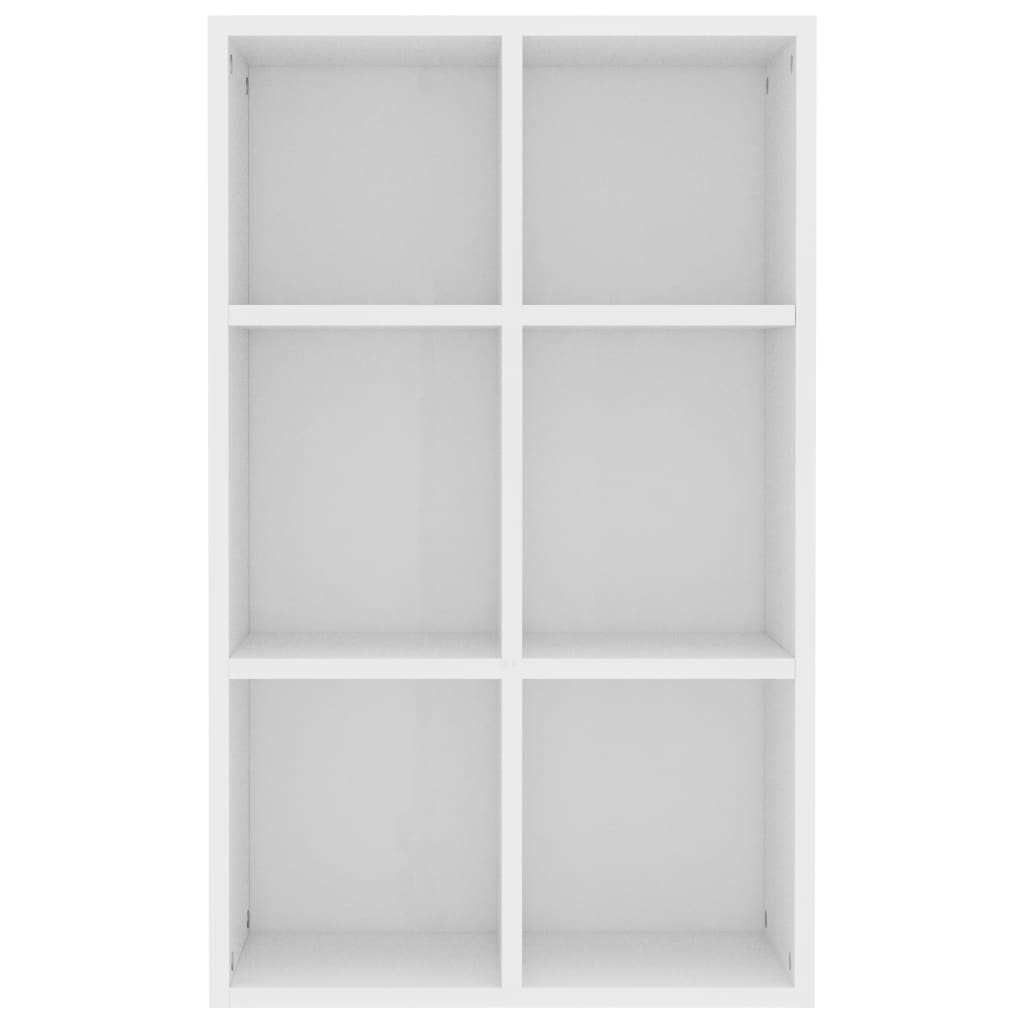 Book Cabinet/Sideboard White 50x25x80 cm Chipboard 5