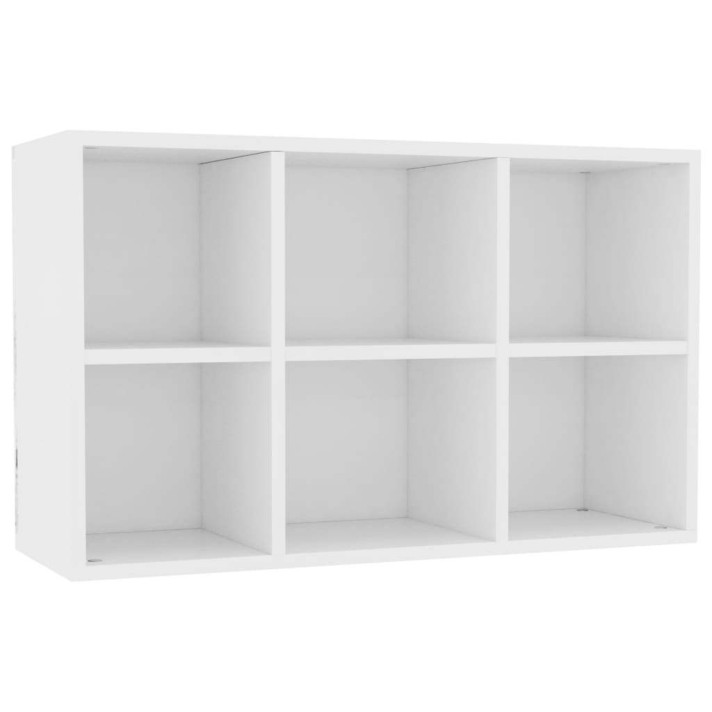 Book Cabinet/Sideboard White 50x25x80 cm Chipboard 7