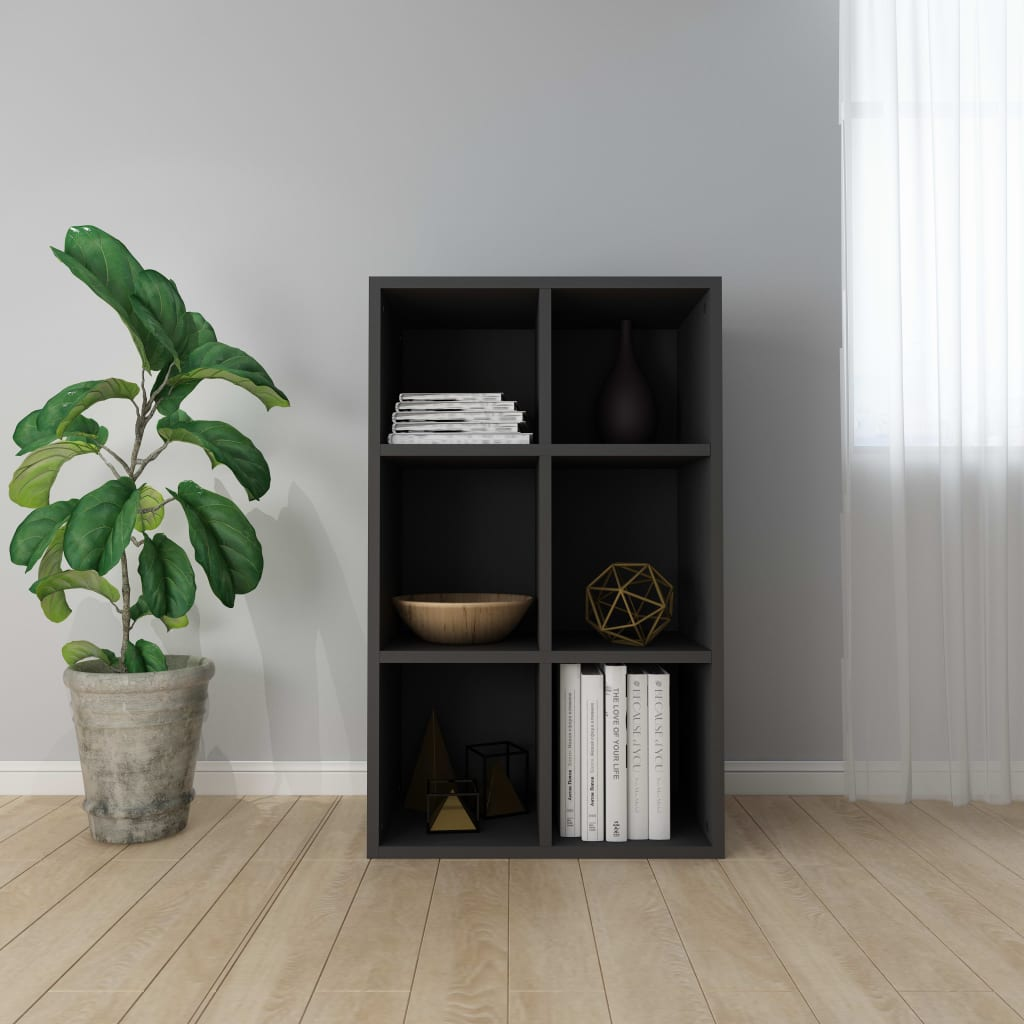 Book Cabinet/Sideboard Black 50x25x80 cm Chipboard