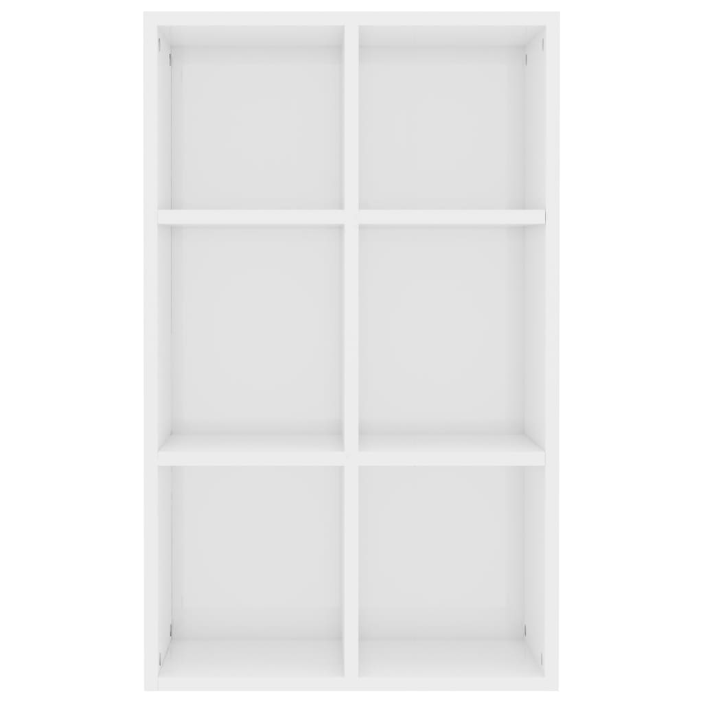 Book Cabinet/Sideboard High Gloss White 50x25x80 cm Chipboard 6